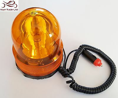 Magnetic Amber Rotating Beacon 12v Roof Signal Flashing Light Emergency Recovery