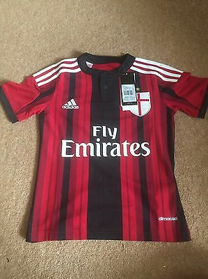 Adidas AC Milan Home Shirt JNR 13-14 Years Brand New With Tags