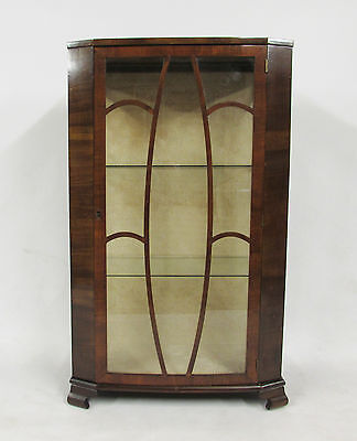 Edwardian / Art Deco Style Glazed Display Cabinet - Delivery Option Available