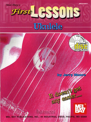 First Lessons Ukulele Learn How to Play Tutor Method Teach Yourself Book & CD