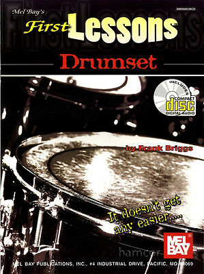 First Lessons Drumset Learn to Play Drums Book +CD