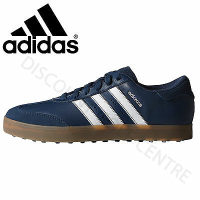 Adidas 2017 Adicross V Spikeless Mens Golf Shoes Mineral Blue  **clearance**