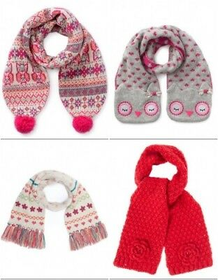 Girls New Ex Monsoon/Accessorize Winter Knitted Scarf - Various Designs- 3-12y
