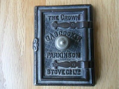 Antique Cast Iron Crown Gas Cooker Parkinson Stove Ltd Advertising Paperweight