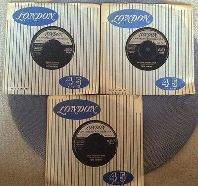 FATS DOMINO - 3 rare UK 1960-1961 / LONDON AMERICAN / ROCK 'N' ROLL / ALL MINT-