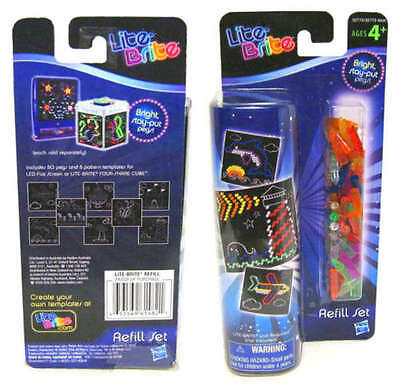 Lite Brite Refill Pegs and Picture Pattern Light Bright Sheets Set Vintage Game