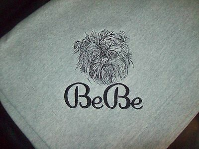 Brussels Griffon Dog Breed Personalized Embroidered Fleece Stadium Blanket Nice