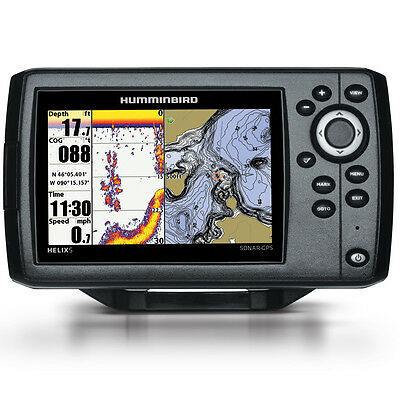 humminbird helix 5 g2 w/transducer chirp gps/fishfinder built-in, Fish Finder