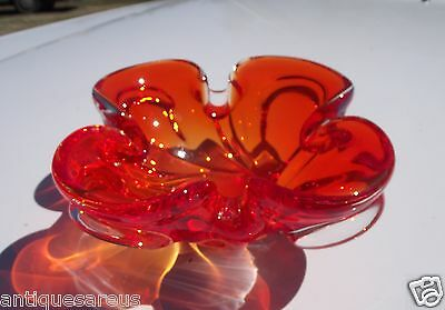 Mcm Mid Century Modern  Chalet ?  Art Glass Centerpiece For Table