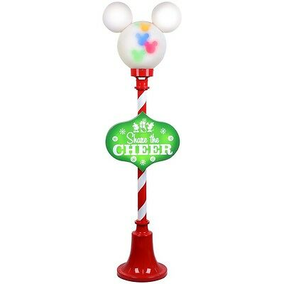 Disney Gemmy 5 ft Mickey Mouse Christmas Multi Color Indoor Outdoor Lamp Post