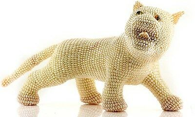 Animal Statue entirely decorated with Freshwater Rice Pearls