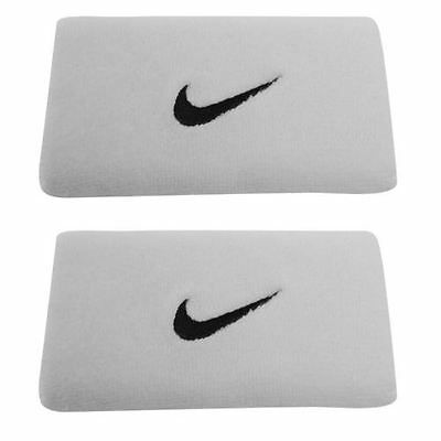Nike Double  Wrist Band Twin Pack Sweat Run Running Tennis Sport Exercise Gym