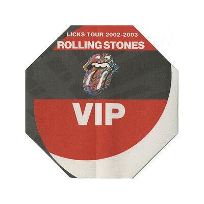 Rolling Stones authentic VIP 2002-2003 tour Backstage Pass