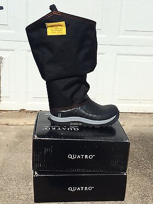 Quatro Rubber Hunting Boots With Bad Land Chaps