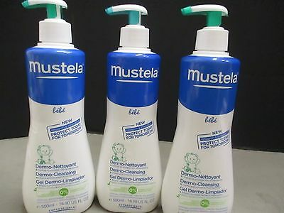3 Mustela Bebe Dermo-Cleansing-- 16.9 Oz Each  Exp: 7/17+   Jl 268
