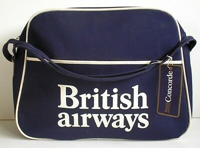 British Airways Flight Bag With Concorde Baggage Tag