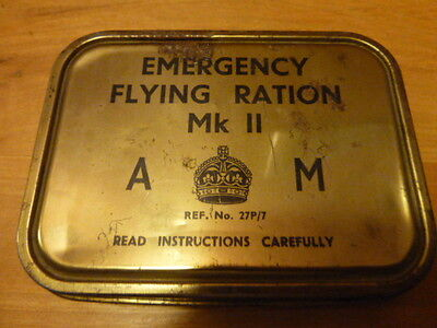 Hard To Find Orig WW11 Emergency Flying Ration Kit MK11 Ref. No. 27P 7-Tin Only