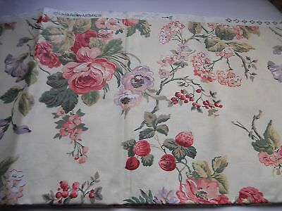 Laura Ashley 1993 floral upholstery fabric - 1.2 m x 47 inches wide