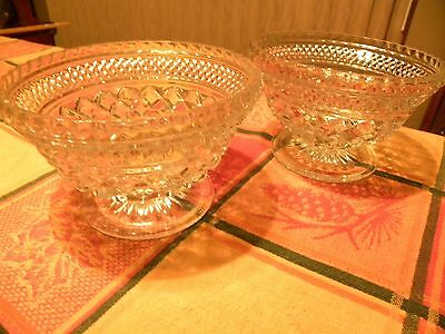 Reto Two Footed Cut Crystal Bowls