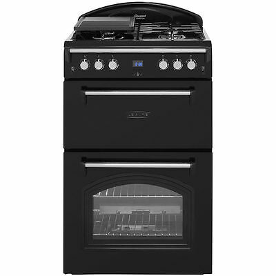 Leisure GRB6GVK Free Standing 60cm Black  Gourmet Gas Cooker with Gas Hob