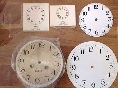 Vintage Paper And Metal Clock Dials 135 183 204mm Diameter