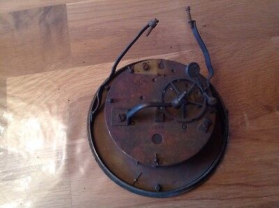 Antique Barrel Clock Movement Chiming Japy Freres Paris Repair Or Restoration