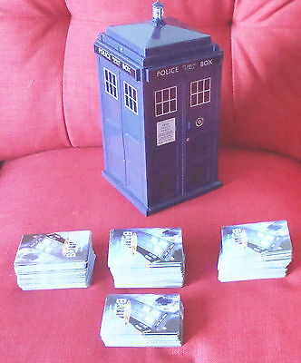 JOB LOT - 420 UNIQUE Doctor Who Battles in Time cards plus TARDIS case, Assorted