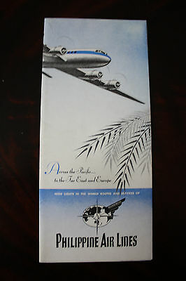 Marketing Brochure Philippine Air Lines Welcome Aboard Dc-6 From 1949 Very Rare