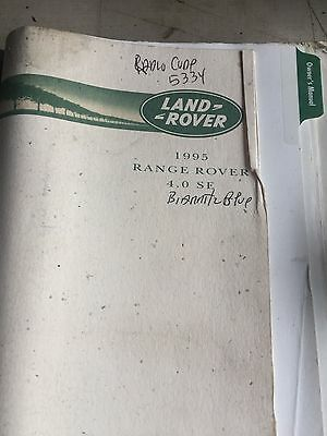 1995 Range Rover 4.0 SE   owners Manual