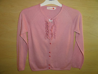 Bn Pink Cardigan And M&s Aubergine Cord Skirt Size 7 Y