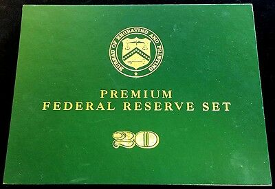 1996 12 Bank Note Set $20 From Each Federal Reserve Bank  Engraving & Printing
