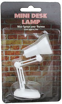 Mini Adjustable Reading Book Desk Table Lamp 12Cm ~ White