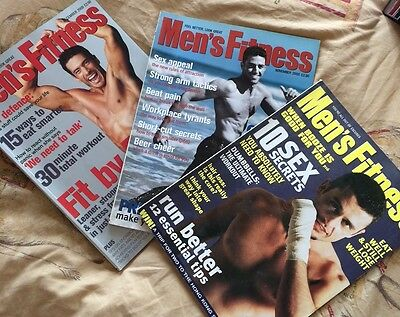 3x MENS FITNESS MAGAZINES FROM 2000 - MARCH/NOVEMBER/DECEMBER