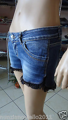 BeG Moda - Short Jeans Lace - Made in Italy - Cod. 630