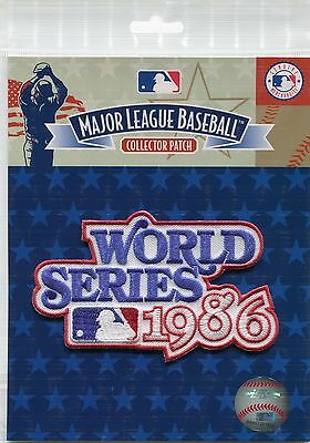 Official Licensed 1986 MLB World Series Patch New York Mets vs Boston Red Sox