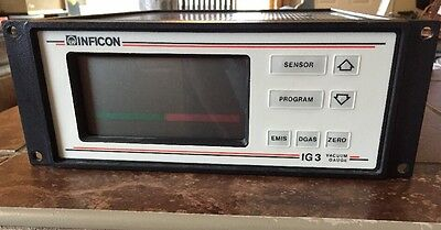 INFICON IG3 VACUUM GAUGE WORKING UNIT With Cards 850-200-G1 and Sensor Cable