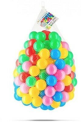 Toyniverse 200 Pack Plastic Crush Proof Ball Pit Play Tent Kids Toy Xmas Gift