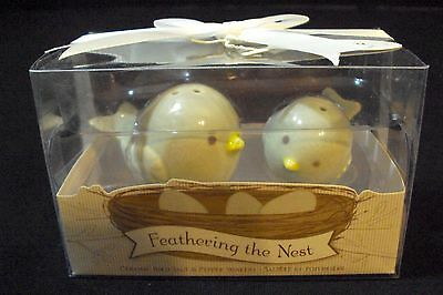 Kate Aspen Feathering The Nest Ceramic Birds Salt and Pepper Shakers New in Box