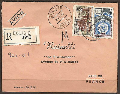 Congo. 1972. Registered Air Mail Cover. Dolisie Postmark. Arrival On Reverse.