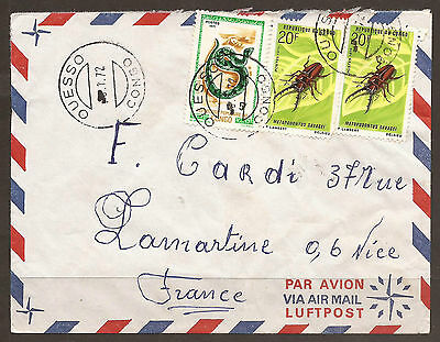 Congo. 1972. Air Mail Cover. Ouesso Postmark.