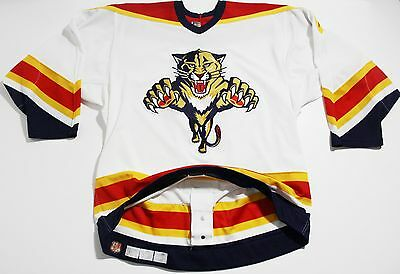 VINTAGE 90'S TEAM ISSUE CCM Florida Panthers GAME WORN/USED?  Jersey SIZE 48