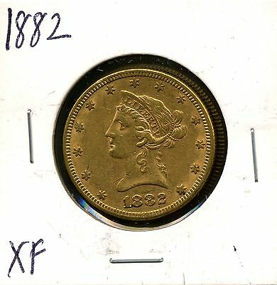 1882 G$10 Liberty Head Gold Eagle in XF Condition