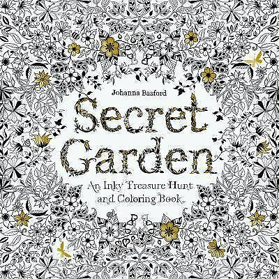 Secret Garden: An Inky Treasure Hunt and Coloring Book by Johanna Basford NEW
