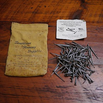 Vintage TREMONT Made in USA Metal Square Cut Nails 1.75 lb + Fabric Case Bag