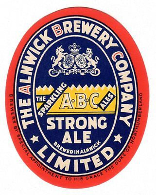 Alnwick Brewery Co. Strong Ale Beer Bottle Label