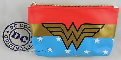 New DC Comics Wonder Woman Cosmetic Make-Up Case Tote Bag Purse
