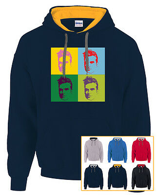 The Smiths Morrissey Pop Art Andy Warhol  Hoodie Contrast Hoody  6 Colours