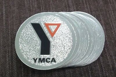"full color YMCA trophy parts 2"" diameter insert lot of 24"