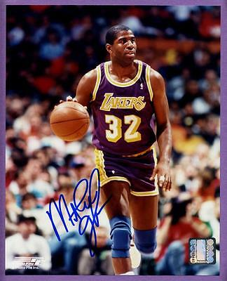 Magic Johnson Los Angeles Lakers Authentic Autographed 8X10 Photo With Coa - D