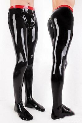 Latex/Rubber Gummi Handsome Black and Red Unique Tight Pants Size XS-XXL